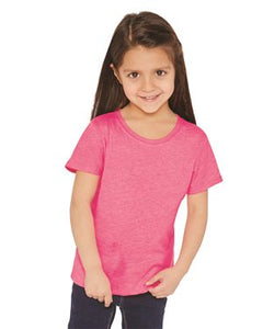 Girls' Princess CVC Short Sleeve Crew