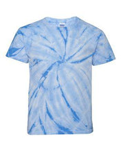 Load image into Gallery viewer, Youth Cyclone Vat-Dyed Pinwheel Short Sleeve T-Shirt