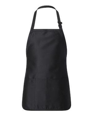 Full-Length Apron with Pouch Pocket