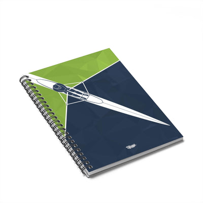 Spiral Notebook - Ruled Line - Single Green