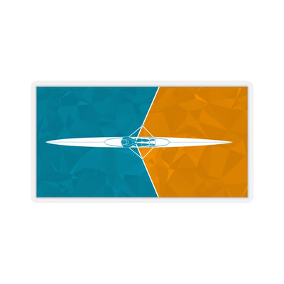 Single Scull Orange Kiss-Cut Stickers