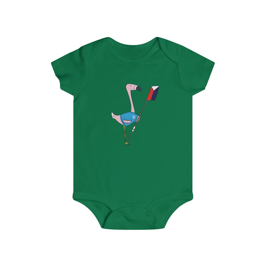 Peggy The Flamingo Infant Rip Snap Tee