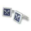 Quadrato Rowing Cufflinks - Strokeside Designs Rowing jewelry- Rowing Gifts Ideas- Rowing Coach Gifts