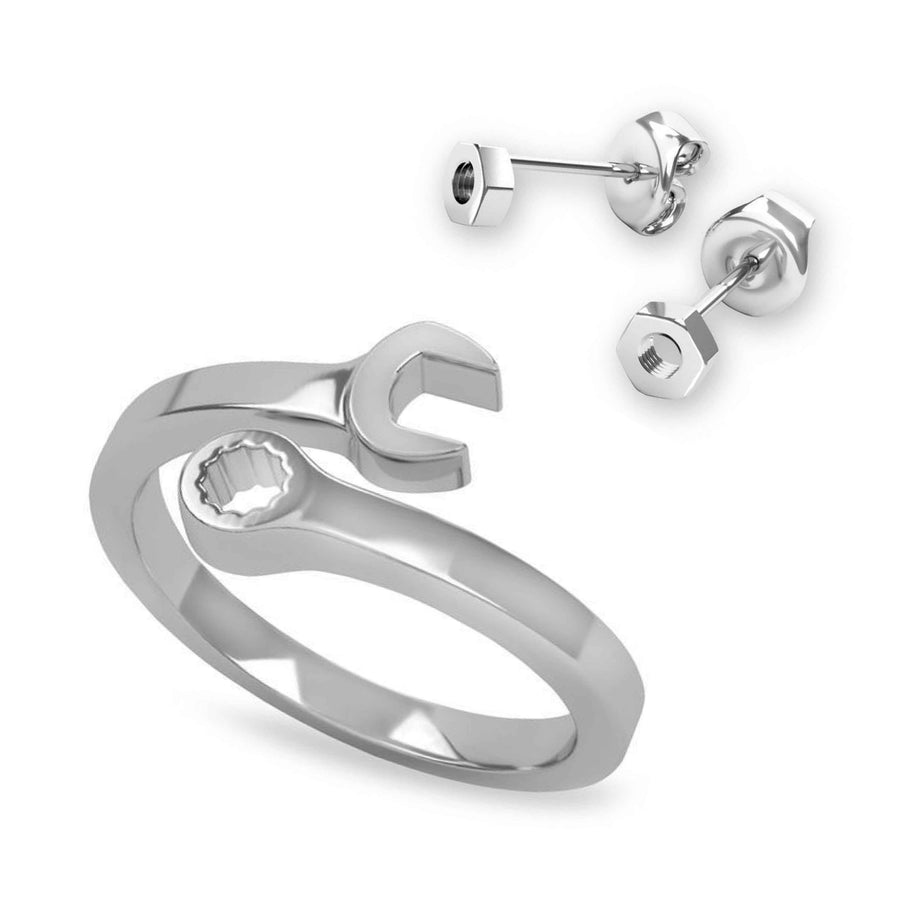 Wrench  Ring & Earrings