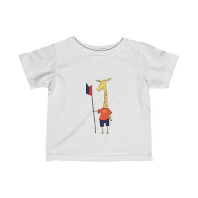 """Shorty"" The Giraffe Infant Fine Jersey Tee"