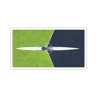 Single Scull Green Kiss-Cut Stickers