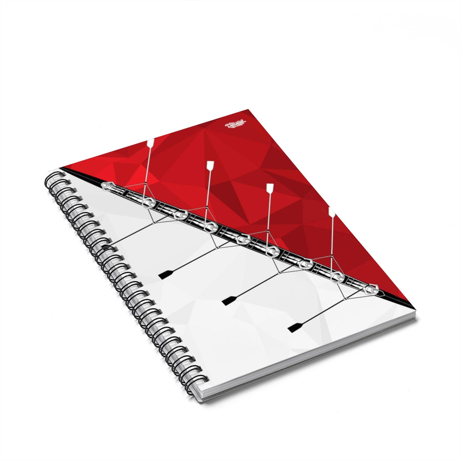 8+ Red Spiral Notebook - Ruled Line