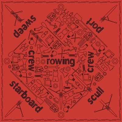 Rowing Essentials Red Bandana