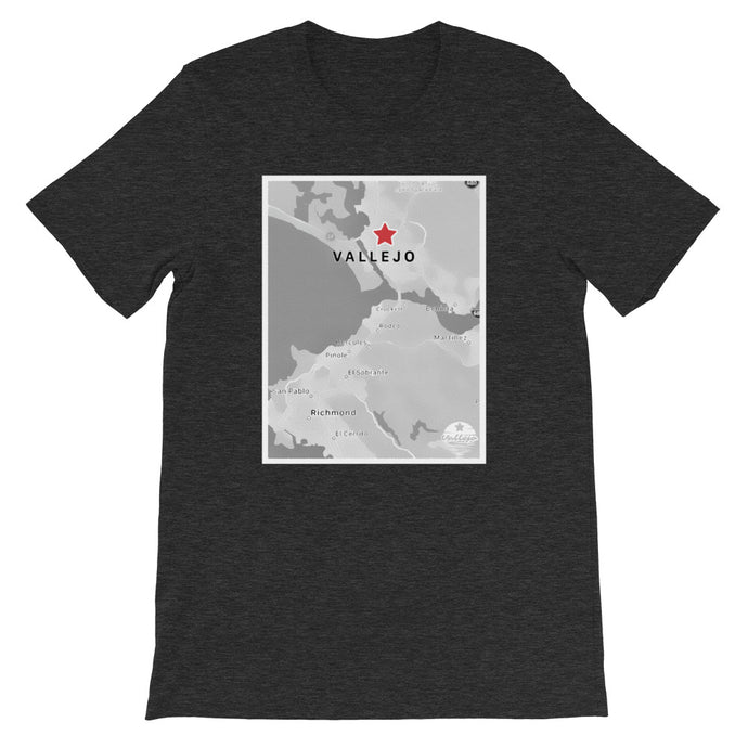 Vallejo's on the Map Unisex T-Shirt
