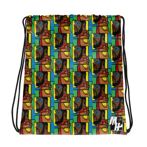 MY HEROES (MOSAIC) Drawstring bag
