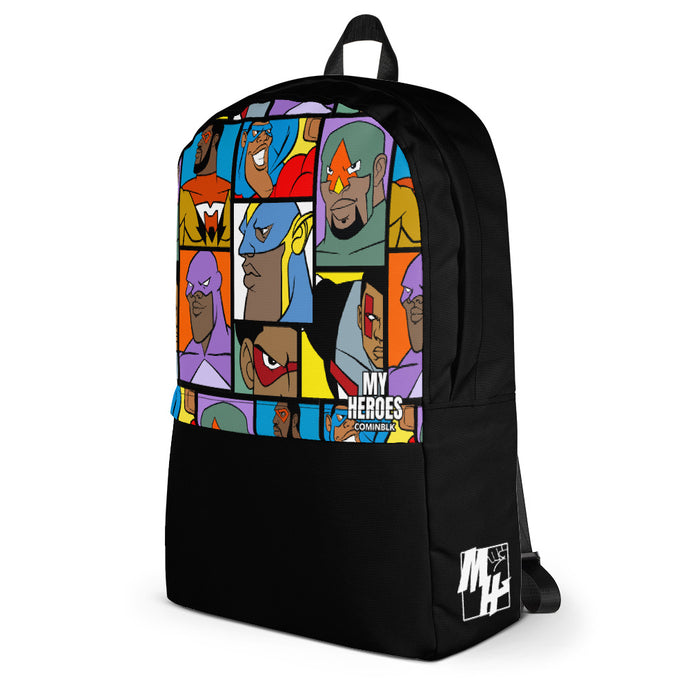 MY HEROES (ON BLK) BACKPACK