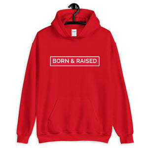 Born & Raised/ Vallejo (front & back images) Unisex Hoodie