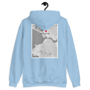 Vallejo's on the Map (front & back images) Unisex Hoodie