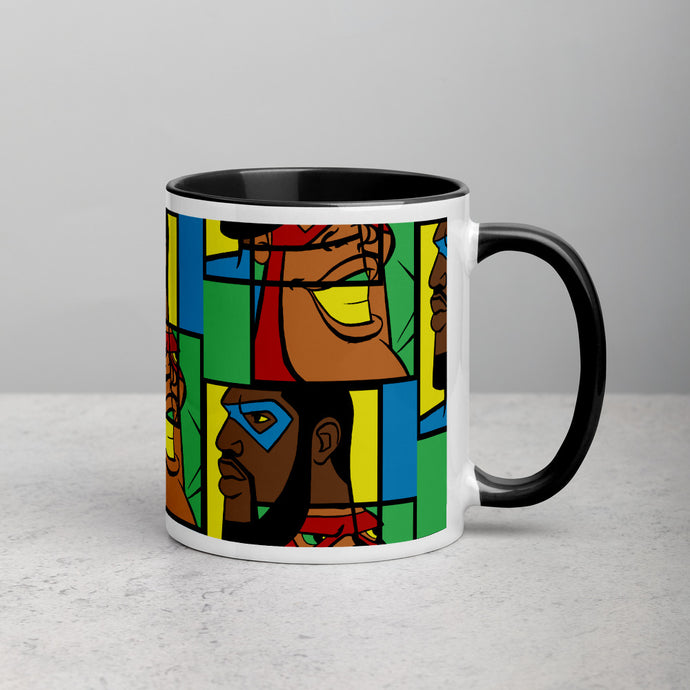 MY HEROES (MOSAIC) Mug with Color Inside
