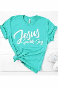 Jesus Sparks Joy - Mint Crewneck
