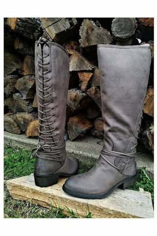 Marcelina Taupe Riding Boots