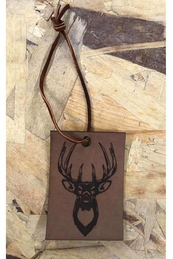 Buck Scented Leather Car Freshener