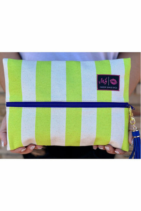 Cabana Neon Makeup Junkie Bag