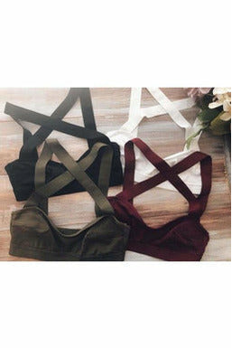 Wide Band X-Cross Bralette