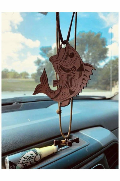 Bass Scented Leather Car Freshener
