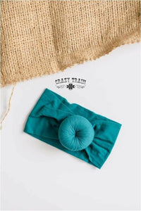 KIDS HONEY BUNS HEADBAND - TEAL