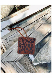Leopard Leather Scented Car Freshener