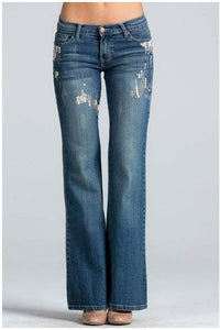 Sequin & Bling Denim Bootcut Jeans