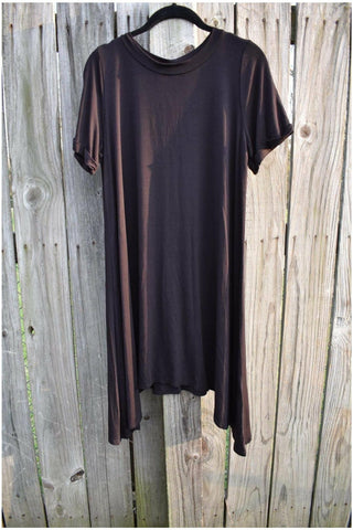 Black Sharkbite Tunic Dress