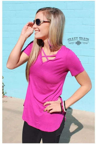 Cross Roads Fuchsia Tunic