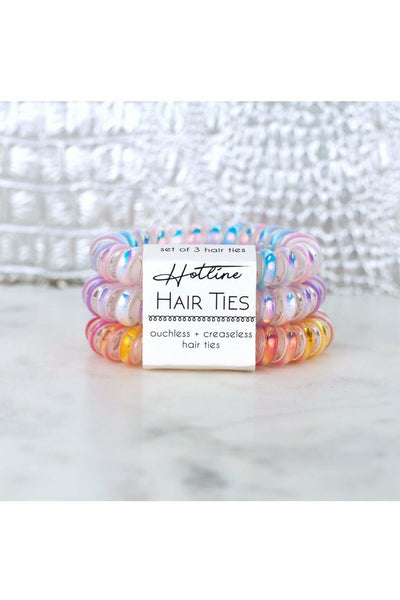 Watercolor Metallic Hotline Hair Ties