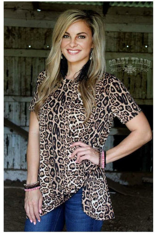 Hot or Knot Leopard Top