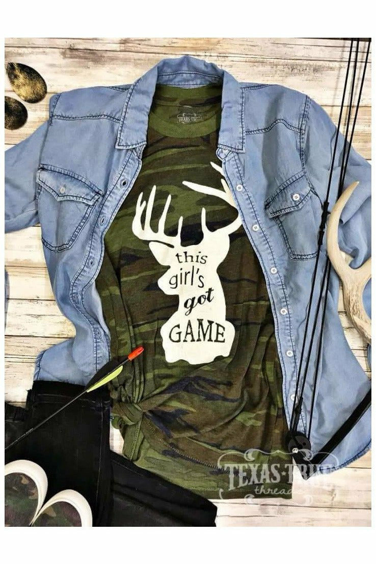 Girl's Got Game Camo Tee