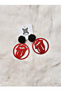 40 Licks Earrings w/Poms