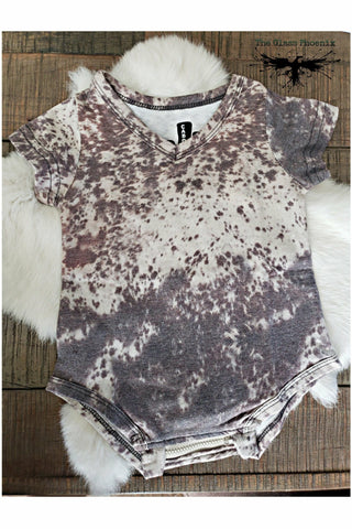 Bottle Fed Cowhide Onesie