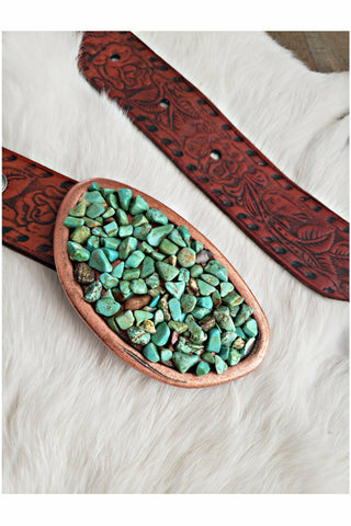 Turquoise Nugget Belt Buckle
