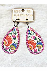 Pink Panache Spring Time Teardrop with Candy Pink Crystals