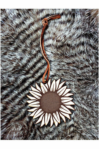 Sunflower Scented Leather Car Freshener