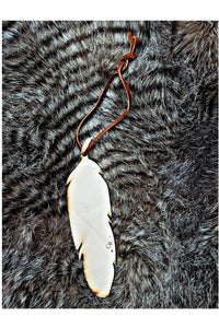 Feather Scented Leather Car Freshener