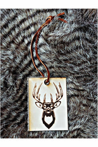 Trophy Buck Scented Leather Car Freshener