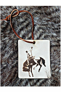 Bucking Bronco Scented Leather Car Freshener