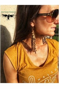 Cheetah Fringe Earrings