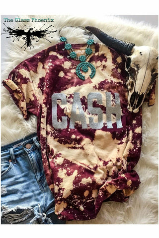 Johnny CASH Acid Wash Tee