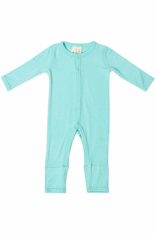 Kyte Baby Long Sleeve Romper in Aqua