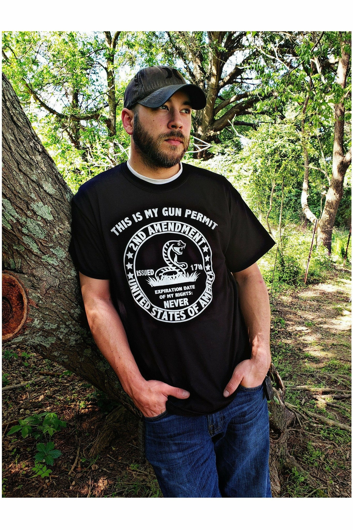 My Gun Permit 2nd Amendment Black Tee