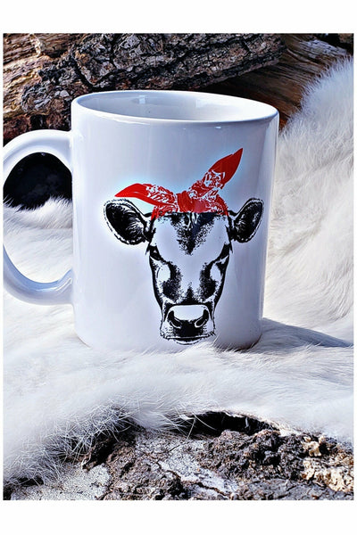 Red Bandana Cow Mug
