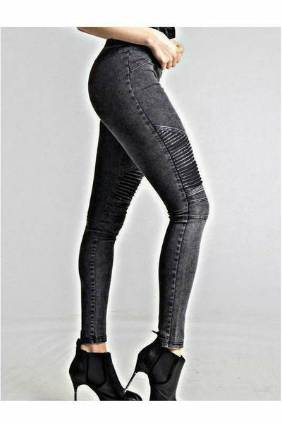 The Black Raven Moto Skinnies