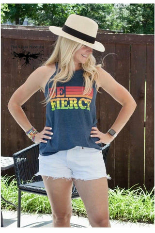 Be Fierce High Neck Tank
