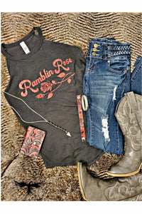 Ramblin Rose Rocker Tank