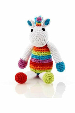 Small Rainbow Unicorn Rattle