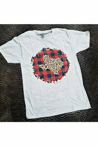 Texas Leopard Plaid Tee